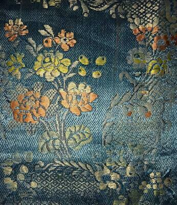 BEAUTIFUL RARE FRAGMENT 18th CENTURY SILK BROCADE c1750s, SPITALFIELDS, LYON 93