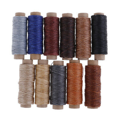 50m/Roll Leather Sewing Flat Waxed Thread Wax String Hand Stitching Craft 150D!