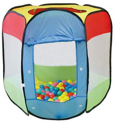 Pop Up Ball Pool Pit Kids Play Tent 100 Balls Indoor Outdoor Dome Cage 99 x 85cm