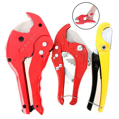 PVC Pipe Cutter Alloy Ratchet Scissors Tube Cutter PP Hose Cutting Hand Tools UK