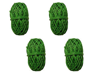 Pack of 4 GREEN Waxed Linen Cotton Jewelry Cord 1mm Craft Thread 100 yds