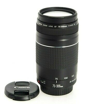 CANON EF 75-300mm f/4.0-5.6 III TELEPHOTO LENS FOR SLR CAMERA 6473A003 BRAND NEW
