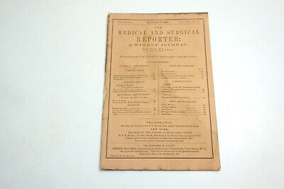 Antique The Medical And Surgical Reporter Weekly Journal Book September 1867