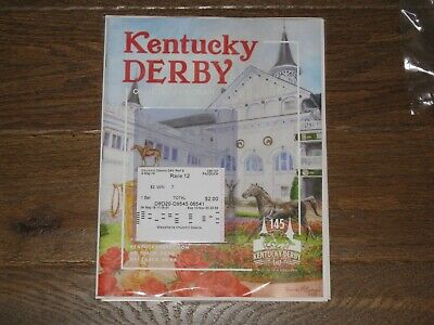 2019 Kentucky Derby Program and 2.00 Win Ticket Number #7(Maximum Security)