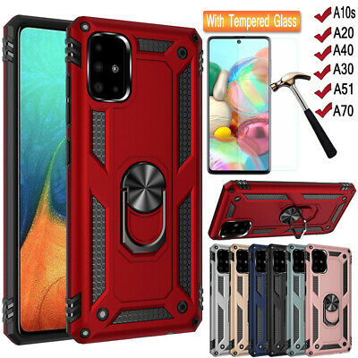 Hybrid Shockproof Hard Armor Cover Kickstand Case For Samsung Galaxy A40 A50 A70