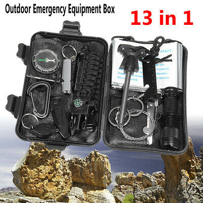 Outdoor Sports Tactical Hiking Camping Kit SOS Emergency Survival Equipment Tool