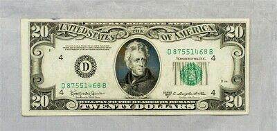 1950-D $20 Federal Reserve Note - Crisp XF - FR.2063-D - Cleveland District