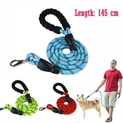 Dog Harness Rope Lead Reflective Strong Bungee Shock Absorbing Walking Leash UK