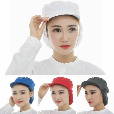 Catering Cap Folding Factory Working Mesh Snood Hat Kitchen Cook Chef Baker Cap