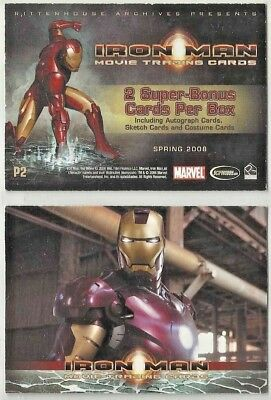 Iron Man  The Movie Promo Card  P2  By Rittenhouse
