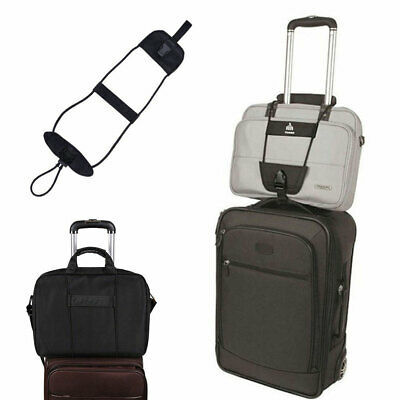 Durable Add Bag Strap Travel Luggage Suitcase Adjustable Belt Carry On Bungee AU