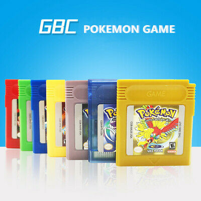 7Pcs Sets Version Game Card Nintendo Pokemon Gameboy GBC Classic Video Games UK