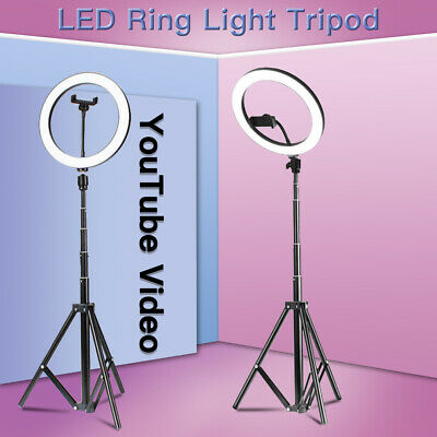 10inch Dimmable LED Ring Light + Stand Studio Selfie Phone Live Video Lighting