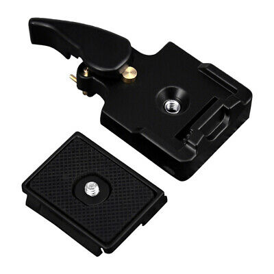 Quick Release Clamp Slide Plate Adapter Base System for Camera Tripod He OGA