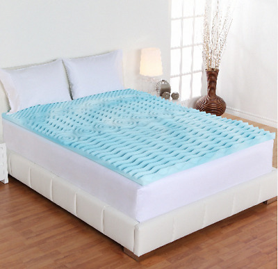 Full Size Cooling Mattress Bed Cover Orthopedic Hypoallergenic Memory Foam New