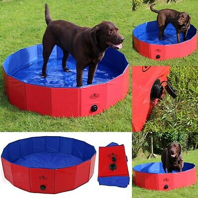 Dog Paddling Pool Pet Bath Tub Washing Swimming Folding Portable Easipet