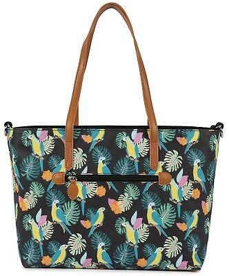 Pink Lining NOTTING HILL TOTE CHANGING BAG - PARROT BLACK Baby Changing BN