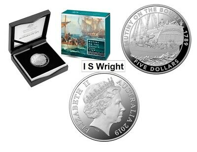 Australia: 2019 $5 Mutiny and the Rebellion - Mutiny On The Bounty Silver Coin