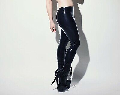 Latex Catsuit Rubber Gummi Sexy Slim Mid Waist Trousers Cool PantsCustomize .4mm