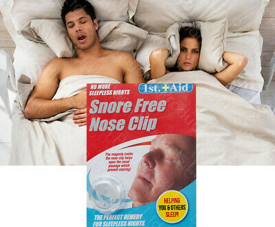 Snore Free Nose Clip Solution Cure Stop Snoring Sleep Magnetic Ring Night Anti