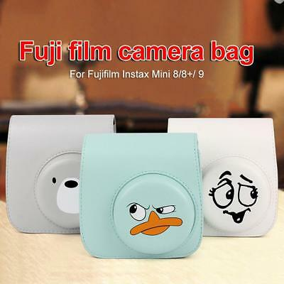 Mini 8 9 Film Instant Camera Flamingo Bag PU Leather Cover Case Fujifilm Instax