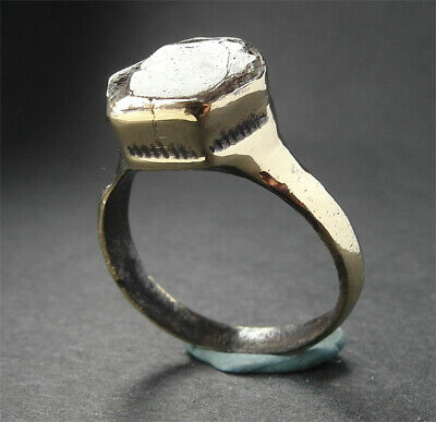 A superb genuine ancient Medieval Æ ring - wearable
