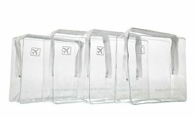 4 x Holiday Airport clear travel toiletry cosmetic wash bag hand luggage bag