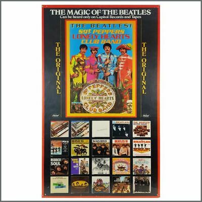 Beatles 78 Sgt Pepper's Lonely Hearts Club Band Capitol Records Promo Poster USA