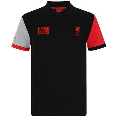 Liverpool FC Official Gift Mens Polo Shirt Champions League Final Madrid 2019