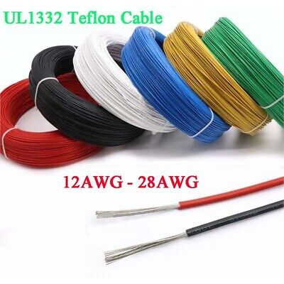 12-28AWG UL1332 FEP Stranded Cable Wire 12/13/14/16/18/20/22/24/26/28 AWG 9Color