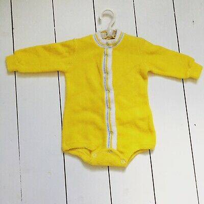 Vintage French Petit Bateaux Yellow Terry Romper