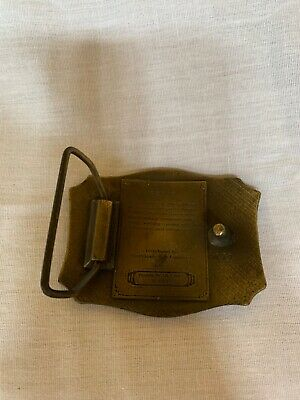 San Francisco Cable Street Car Transportation 1970's Vintage Belt Buckle