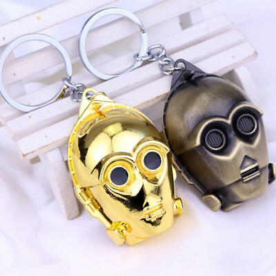 Star Wars Robot See-Threepio C-3PO Alloy Key Chains Keychain Keyfob Keyring