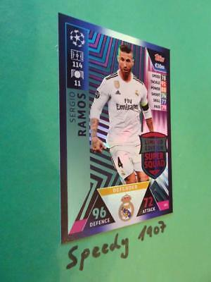 Topps Champions League 2018 2019 limited Edition Ramos Squad Match Attax LE3