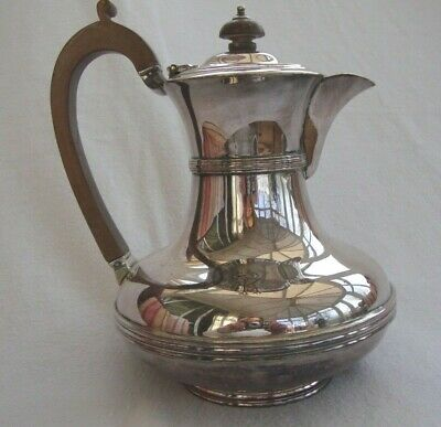 Antique Silver Plated Epns Coffee Pot Hot Water Jug Hinged Lid M And Co 2351