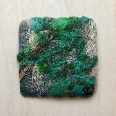 Felted Mini Wall Hanging by Sanna Rahola, Canadian Landscape , 8 x 8