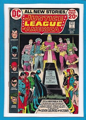 Justice League Of America #100_August 1972_Very Fine_Justice Society_Batman!