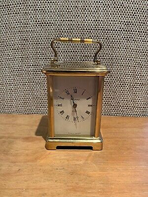 Brass Carriage Clock 8 Day Movement Bayard Duverdrey & Bloquel Of France