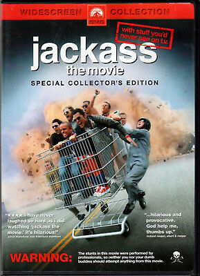 JACKASS The MOVIE on MTV Video DVD of JOHNNY KNOXVILLE Steve-O BAM MARGERA Stunt