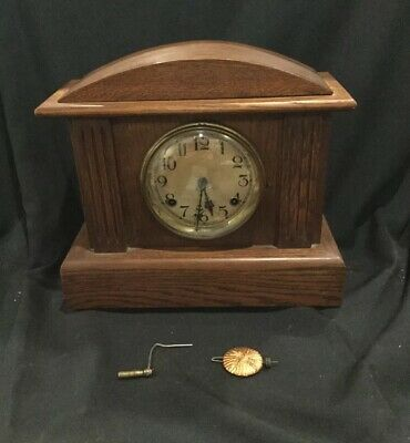 Antique Mantle Clock- Seth Thomas Wooden Grain Adamantine B3
