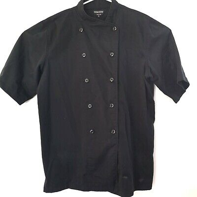 Town and Country Black Chef Jacket Double Button Breasted  Size  XL