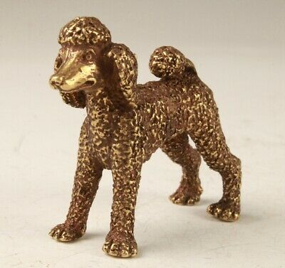 Chinese Bronze Handmade Cute Dog Figurines Statue Gift Collection