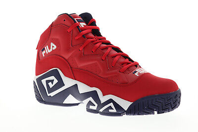 Fila Mb Mens Red Synthetic Athletic Lace Up Basketball Shoes