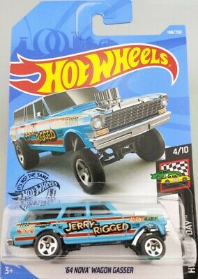 NEW 2019 Hotwheels Jerry Rigged  *64' NOVA WAGON GASSER*  HW Race Day   # 198