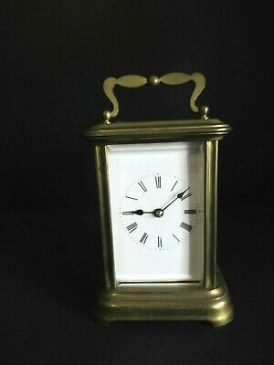 Antique French Carriage Clock #1159 With Bevel Glass