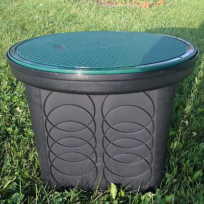 """NEW  Polylok 20""""  Septic Distribution 8-Hole Distribution Box w/ Solid Cover"""