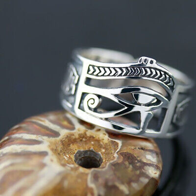 Men Women Egyptian Eye of Horus Ankh Cross Symbolic Rings Egypt Amulet Jewelry