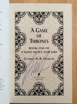 SIGNED - A Game of Thrones by George r. r. Martin 2011 HC Slipcased Deluxe BN