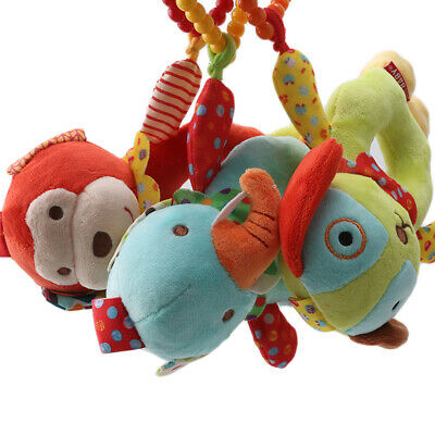 Cartoon Infant Baby Hand Bell Rattles Newborn Toys Hand Toy Teether Game LC