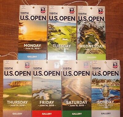 2019 Us Open Golf Pebble Beach Gallery Tickets - Entry For All 7 Days June 10-16